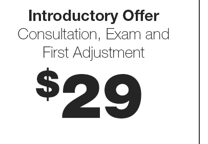 Chiropractic Care in Greensboro: Introductory Offer: Consultation, Exam and First Adjustment for $29 - No Copays, No Hassles